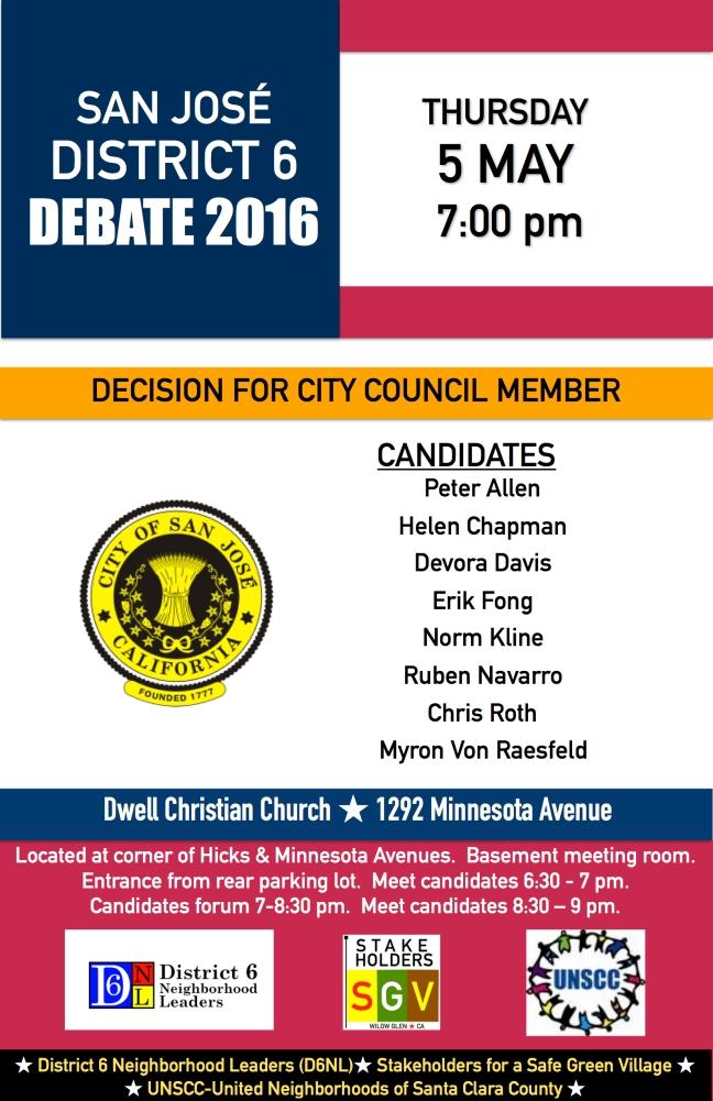 WG District 6 Debate 2016 JPEG FINAL 11x17 Willlow Glen